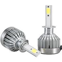 Mesllin Lámparas LED Bombillas H1 Plug - COB La más nueva tecnología 6000K 20000LM 120W Super