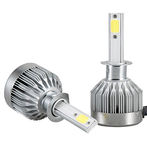 Mesllin LED Scheinwerfer Glühlampen H1 Stecker - COB Neueste Technologie 6000K 20000LM 120W Super Bright White Lights Birne - Paket von 2 (H1)