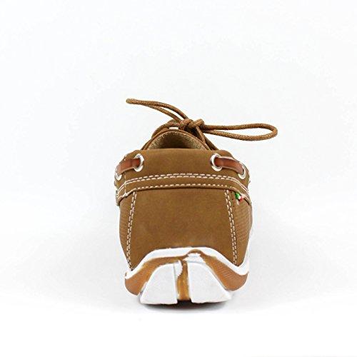 Buonarotti , Herren Bootsschuhe beige Camel Camel
