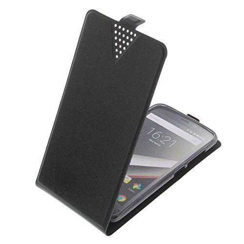 foto-kontor Tasche für Phicomm Clue L Flip Style Ultra-dünn Schutz Hülle Schwarz