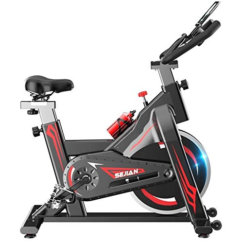 Drlgc home spinning bike, silent cyclette, indoor sports pedal bike, attrezzatura per il fitness, aerobica, maniglia e sedile regolabile computer reading speed, distance, time, calories