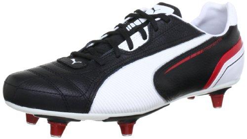 Puma  Momentta SG, Chaussures de football homme Noir - Schwarz (black-white-ribbon red 02)