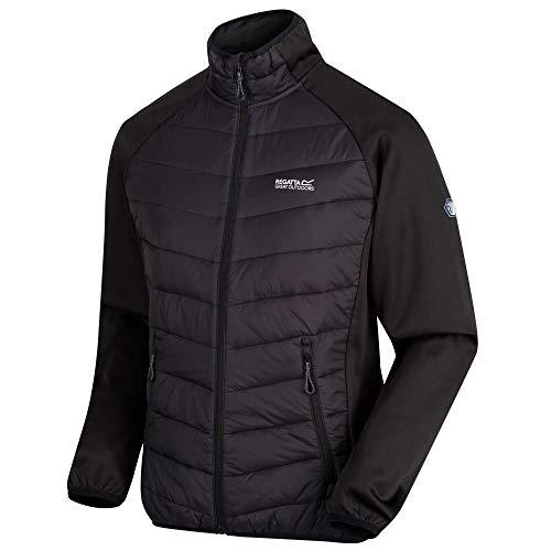 Regatta Herren Bestla Stretch Water Repellent Lightweight Insulated Hybrid Down Jacke, schwarz, XXXL - Regatta-luft