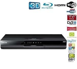 Samsung BD-D8900 Lecteur Blu-Ray 7.1canaux Compatibilité 3D Noir - lecteurs Blu-Ray (Noir, Lecteur Blu-Ray, 1024 Go, 7.1 canaux, AVCHD,MKV,WMV, AAC,MP3,WMA)