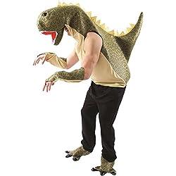 Adult Unisex Green T-Rex Dinosaur Animal Fancy Dress Costume