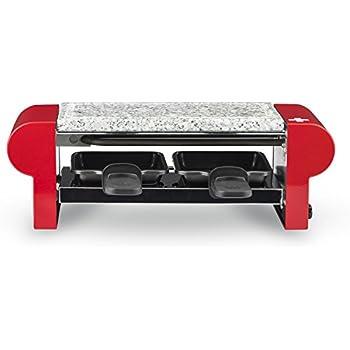 H.Koenig RP2 Raclette/Pierre à Griller pour 2 Personnes Rouge