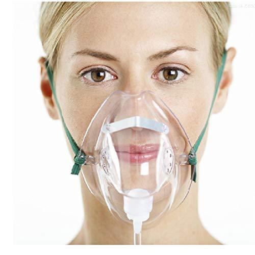 yuwell Sauerstoffmaske mit 2 m langem Schlauch, 3 Stück