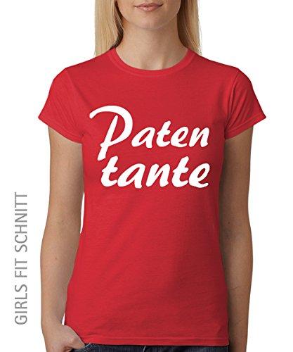 -- Patentante -- Girls T-Shirt auch im Unisex Schnitt Rot