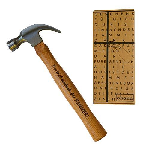 Gravierter Hammer I Lustige Männer Geschenke I Geschenkidee Spaßgeschenk