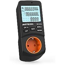 Energiemessgerät, Meterk Einstecken-LCD Watt Energiemessgerät Elektrizitäts Energie Monitor mit 12/24 Stunden Modus und 2 Modi 2 Berechnungsmethode Zeitgesteuerte Abschaltfunktion