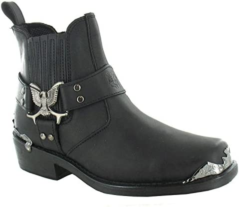 Grinders Eagle Lo Black Mens Boots