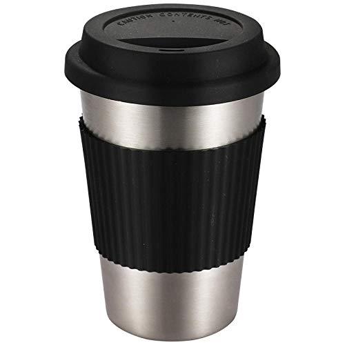 XSY Kreative Kaffeetasse_Anke 304 Edelstahl Kreative Kaffeetasse Silikonabdeckung Isolationspad Set Werbetasse Wassertasse 500~600ML @ Brown Mug