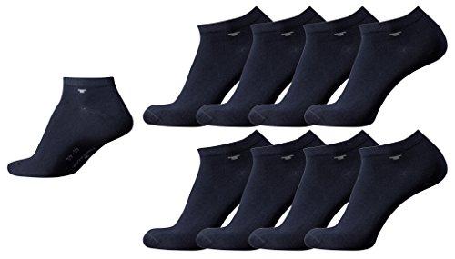 Tom Tailor 8er Pack Sneaker Socken dunkel-blau Mehrpack Strümpfe Socks dark navy Füsslinge, Size:39-42