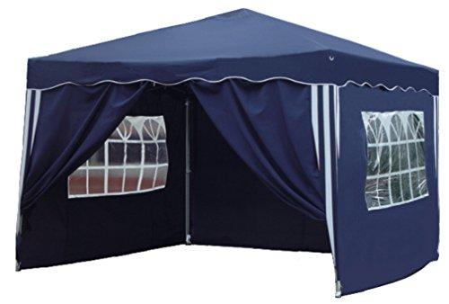 falt pavillion Kronenburg Falt Pavillon Dachmaß 3 x 3 m in blau mit 4 Seitenteilen