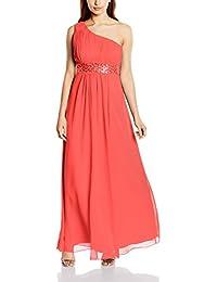 Astrapahl Damen Kleid One Shoulder mit Pailletten, Maxi