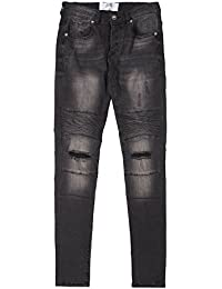 Jean biker Sixth June destroy gris 1177H