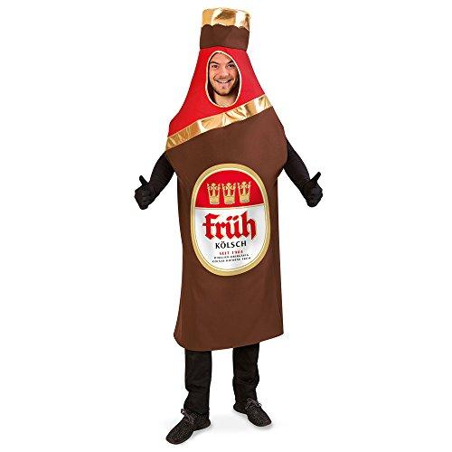 KarnevalsTeufel Kostüm Bierflasche Früh Kölsch, Flaschenkostüm für Erwachsene (Frühe Kostüm)