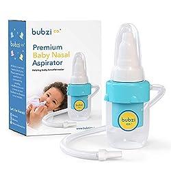 Bubzi Co Premium Nasensauger für Baby, weiches Silikon, nicht irritierende Spitze, waschbar und wiederverwendbar, keine Filter notwendig, Krankenhaus geeignet, Nasal Aspirator bei verstopfter Nase