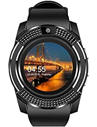 Xotak Smart Watch with Bluetooth Sim Card (4G Supported) Health Fitness Tracker and More - Black