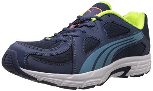 Puma Men's Axis V3 Insignia Blue and Metallic Blue Fabric Running Shoes - 7 UK/India (40.5 EU)