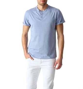 Promod T-shirt col tunisien Homme Myosotis L