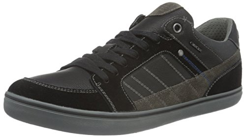 Geox U Box F, Baskets Basses Homme Schwarz (BLACKC9999)