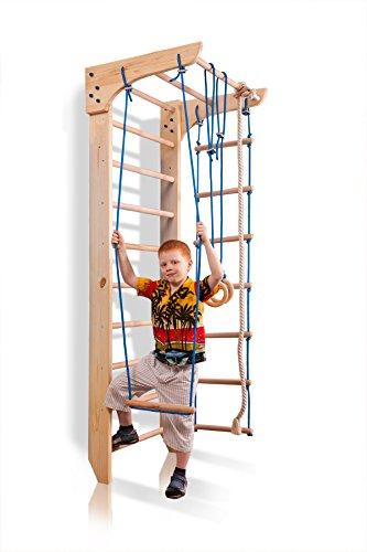 Kletterwand Turnwand ˝Kinder-2-240˝ Sprossenwand mit Stange Fitness Sportgerät Kinder Gym Klettergerüst Hol