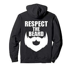 Bearded Men Gifts - Respect the Beard - Beard Mustache Love Pullover Hoodie