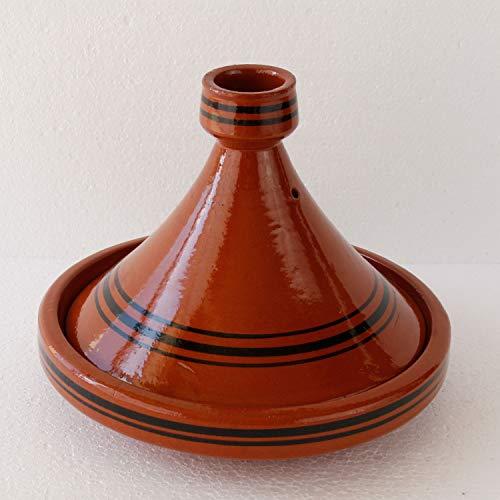 Casa Moro Tajine Ø 25 cm Marokkanische Tagine zum Kochen | Handmade Berber Gartopf Tuareg Tontopf...