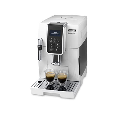 De'Longhi Dinamica, Fully Automatic Bean to Cup Coffee Machine, Cappuccino, Espresso Coffee Maker, ECAM 350.35.W, White