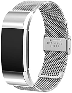 Ouneed® Für fitbit charge 2 Uhrenarmband Armband , Milanese Edelstahl Uhrenarmband Armband für Fitbit Charge 2