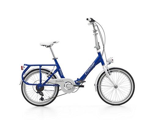 """Klapprad Cicli Cinzia Sixtie\'s, Aluminium-Rahmen, Rad 20\"""", Größe 40 (Blau, H40)"""
