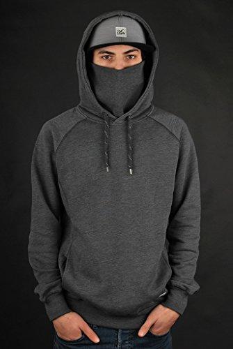Cleptomanicx Ligull 2 Zip Hoody Black Grey