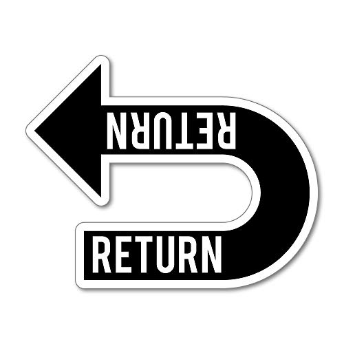Return Recycle Sticker Decal Window Sign Graphic Bin Car Safety