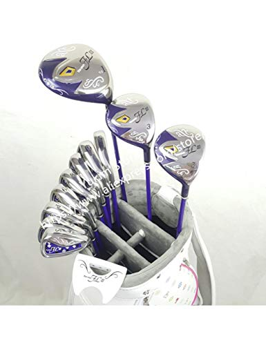 HDPP Golfschläger Frauen Golfclubs GolfClubsFahrer + Fairway -Holz + Eisen + Putter Graphite Golf Welle Keine Tasche -