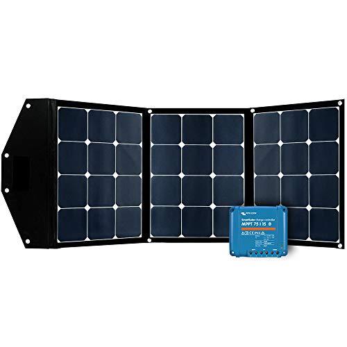 Offgridtec© FSP 2 Ultra 120W faltbares Solarmodul Aufständerung integriert und Victron SmartSolar 75/15 MPPT Laderegler Bluetooth