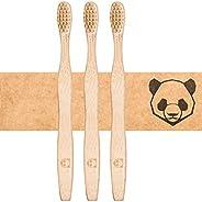 bambusliebe 3x Bambus-Zahnbürste mit weichen Borsten aus Bambus-Viskose - Nachhaltig, umweltbewusst, antibakte