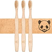 ✮ bambusliebe ✮ Bambus Zahnbürste für Erwachsene ♻ mittlere Bambus-Viskose Borsten ♻ Nachhaltig ✅ Vegan ✅ Kompostierbar ✅ Antibakteriell ✅ BPA-frei ✅