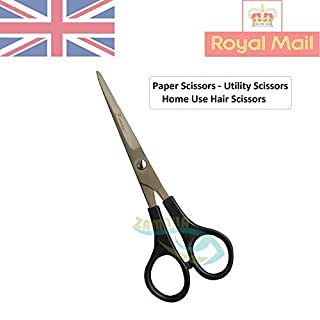 Zamaha-UK Klassische Papierschere, 15 cm, für den Heimgebrauch, Haarschere - Kunststoffgriff