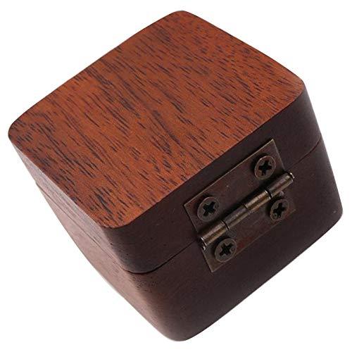 TOOGOO Holz Gitarre Auswaehlen Plectrum Aufbewahrung Box Halten Hülle Pflege Werkzeug Gitarre Auswaehlen Geschenk Gitarren Zubeh?r