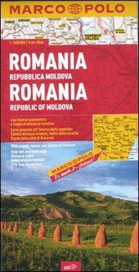 Romania, Repubblica Moldova 1:800.000. Ediz. multilingue (Carte stradali Marco Polo)