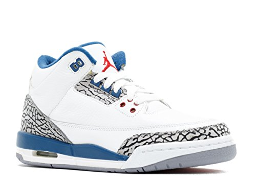 AIR JORDAN 3 RETRO (GS) 'TRUE BLUE 2011 RELEASE' - 398614-104 - SIZE 5 (Jordan Retro 3 Sport Blue)
