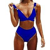 Traje De Baño De Mujer,ZODOF Sujetador con Relleno de Mujer Tanga Tanga Bikini Traje de Baño de Dos Piezas Traje de Baño
