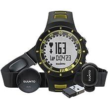 Suunto Quest Yellow Running Pack - Reloj deportivo (Dot-matrix, 42,7 x 13,2 x 42,7 mm, 40g, Negro, Amarillo, CR2032, 8760h)