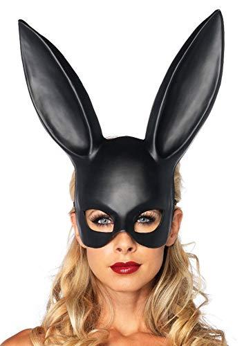 Verruchte Hasenmaske von Leg Avenue Bunny Halbmaske Schwarz sexy kinky Rollenspiele, Farbe:Schwarz (Schwarzer Hase Maske Kostüm)