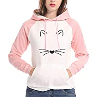 TWBB Damen Hoodie,Winter Pullover Farbe Pachwork Drucken Mantel Slim-Fit Sweatshirt Outwear Langarm-Shirt