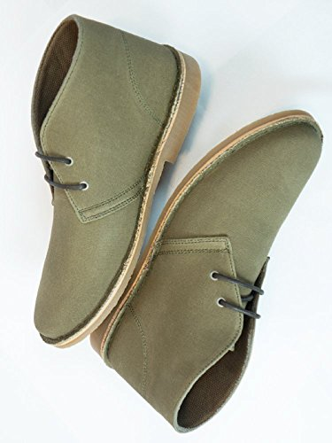 Will's Vegan Shoes Canvas desert boots brown-UK 11/EU 45/US 12