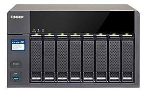 'QNAP ts-831x NAS Tour Ethernet/LAN Schwarz–Server Speicher-(32000GB, Festplatte, Festplatte, Serie ATA III, 4000GB, 2.5/3.5)