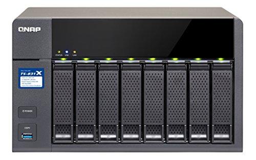 Qnap ' ts-831x NAS Tour Ethernet/LAN Schwarz–Server Speicher-(32000GB, Festplatte, Festplatte, Serie ATA III, 4000GB, 2.5/3.5) | 0789470822311
