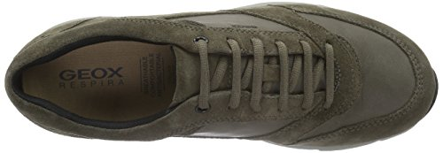 Geox Dynamic D, Chaussures De Sport Basses Pour Homme Brown (taupe / Greyc6140)